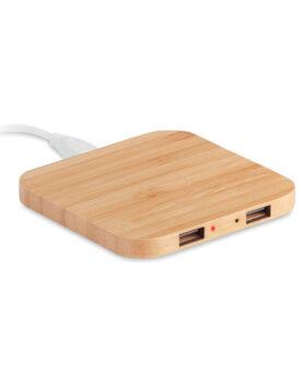 Personalizare Încărcător wireless din bambus