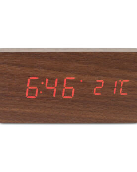 Personalizare Ceas cu LED din lemn MDF