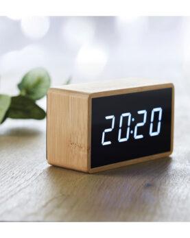 Personalizare Ceas deșteptător LED în bambus