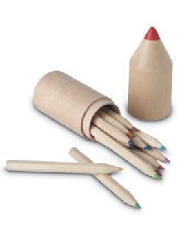 Personalizare 12 creioane în cutie din lemn