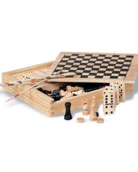 Personalizare 4 jocuri în cutie din lemn