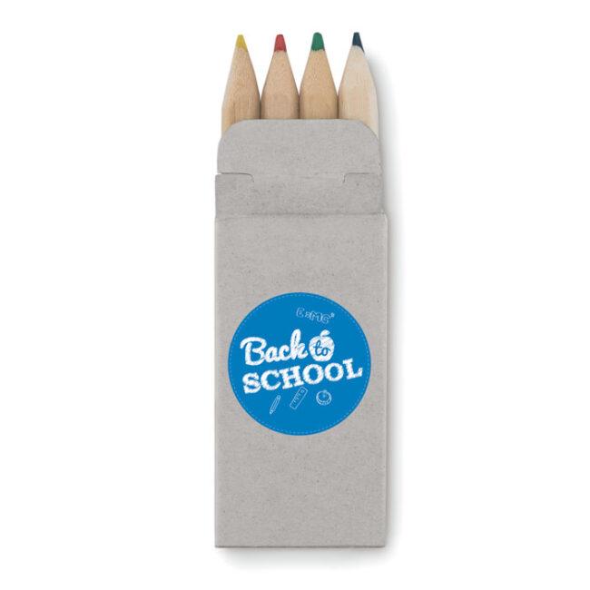 4 mini-creioane colorate imprimate