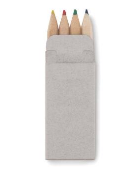Personalizare 4 mini-creioane colorate