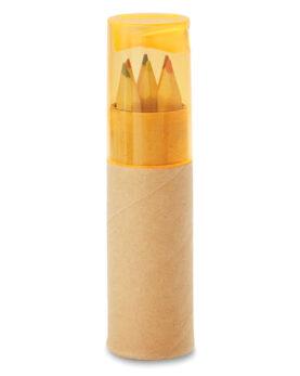 Personalizare 6 creioane în tub