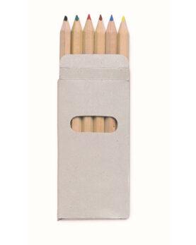 Personalizare 6 creioane colorate