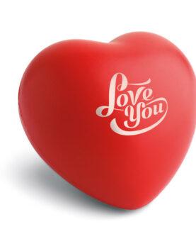 Anti-stres inimă. Material PU. personalizate