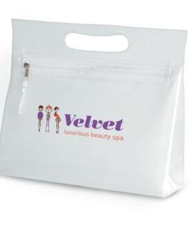 Borsetă transparentă din PVC personalizate