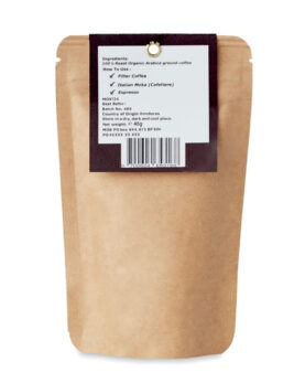 Cafea organică Arabica de 40 g personalizate