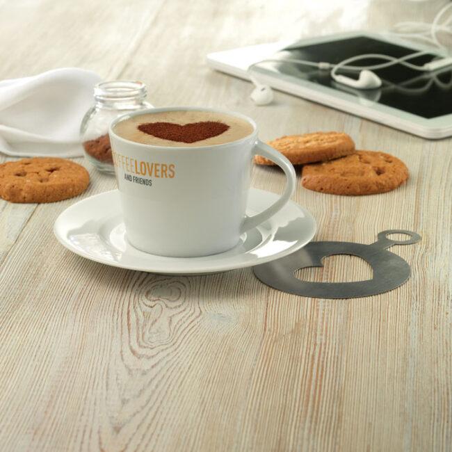 Cappuccino ceasca si farfurie imprimate