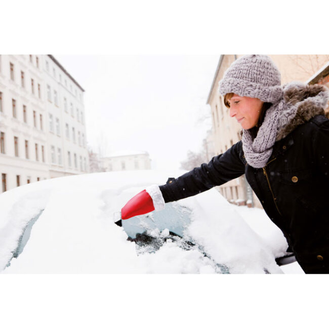 Curățitor de gheață cu mănușă inscriptionate