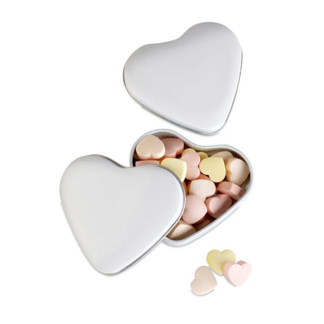Personalizare Cutie formă inimă cu bomboane