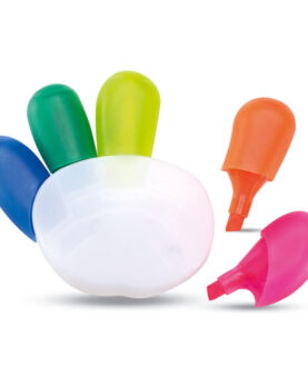 Evidențiator în 5 culori personalizate