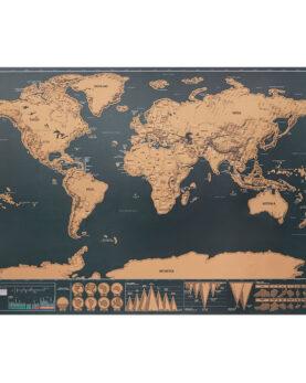 Personalizare Harta lumii răzuibilă 42x30 cm