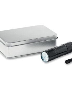 Lanternă cu LED in cutie metal personalizate