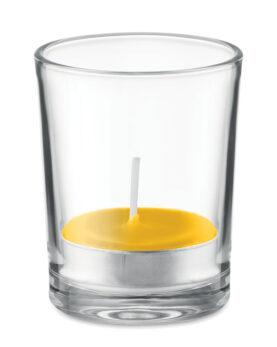 Lumânare aromatizată în sticlă personalizate