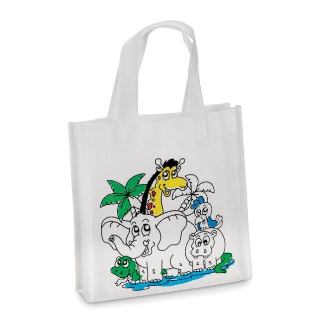 Mini-geantă cumpărături imprimate