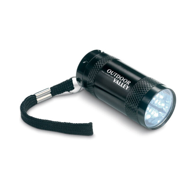 Mini-lanternă aluminiu+lanyard inscriptionate