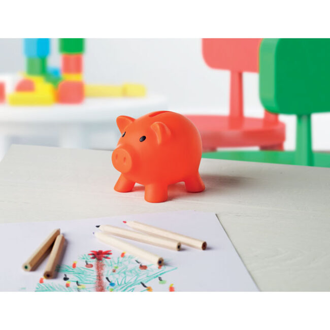 Pușculiță în formă de porcușor imprimate