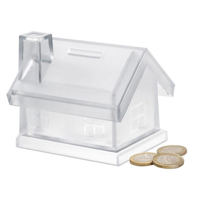 Pușculiță casă din plastic imprimate