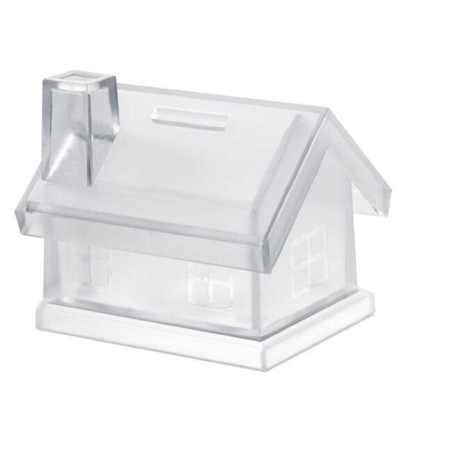 Pușculiță casă din plastic inscriptionate