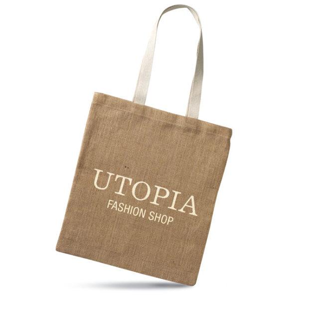 Sacoşă cumpărături iută personalizate