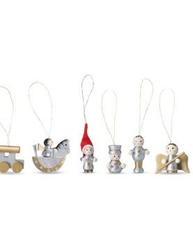 Set 6 decorațiuni de Crăciun personalizate