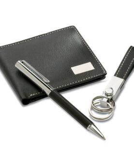 Set cadou:pix+breloc+portmoneu personalizate