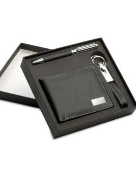 Personalizare Set cadou:pix+breloc+portmoneu