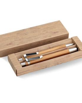 Personalizare Set din pix și creion bambus