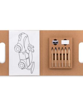 Personalizare Set pt colorat cu 6 creioane