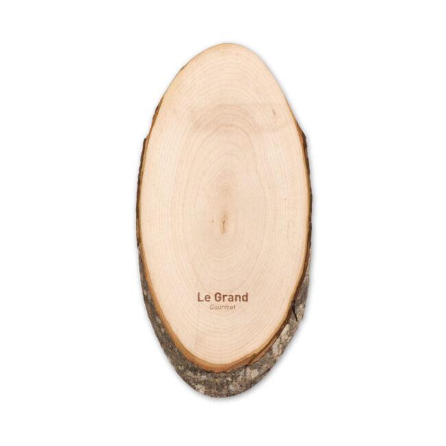 Tocător oval cu scoarţă personalizate