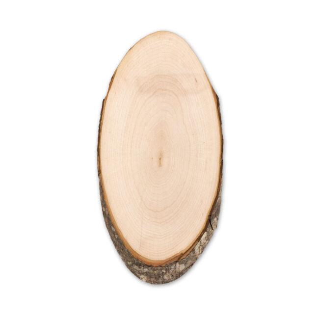 Tocător oval cu scoarţă inscriptionate