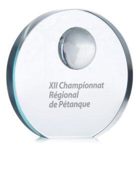 Trofeu din sticlă personalizate
